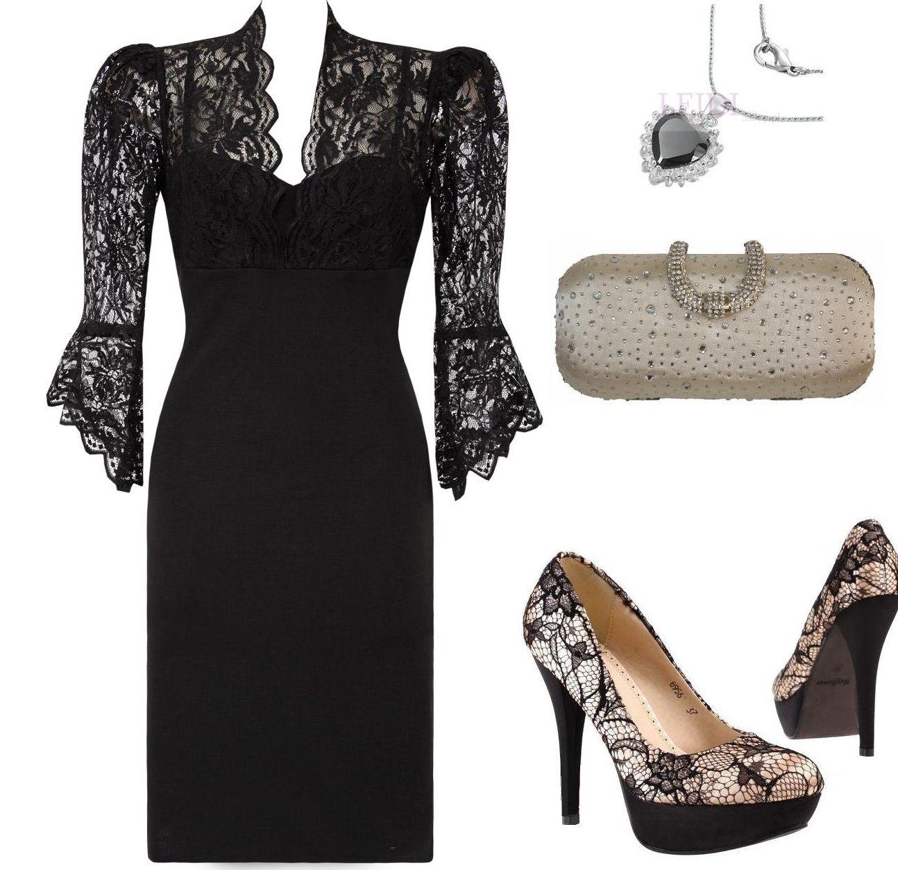 Czarna wieczorowa sukienka