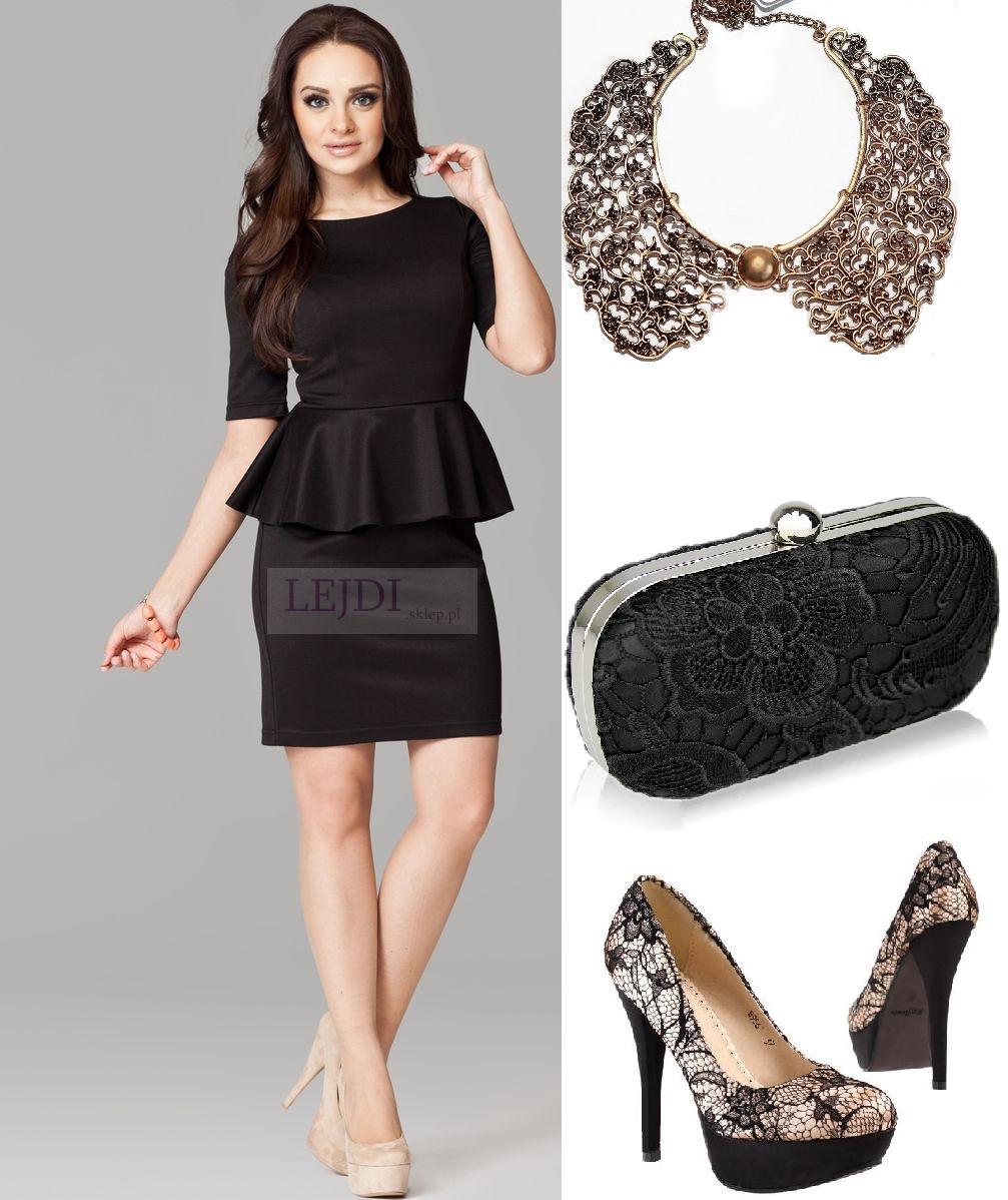 Czarne sukienki baskinki