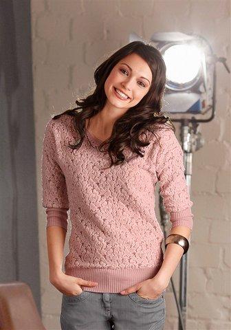 koronkowa bluzka, bluzka pudrowy róż, sweterek pudrowy róż, koronkowy sweterek, bluzka, bluzki