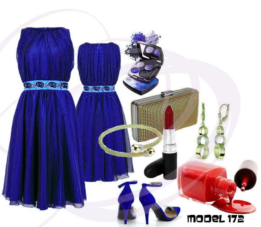 Sukienka, sukienki, sukienka na wesele, chabrowa sukienka, niebieska sukienka