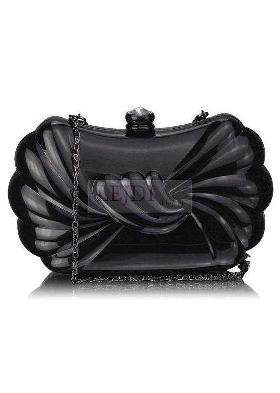 Czarna torebka szkatułka