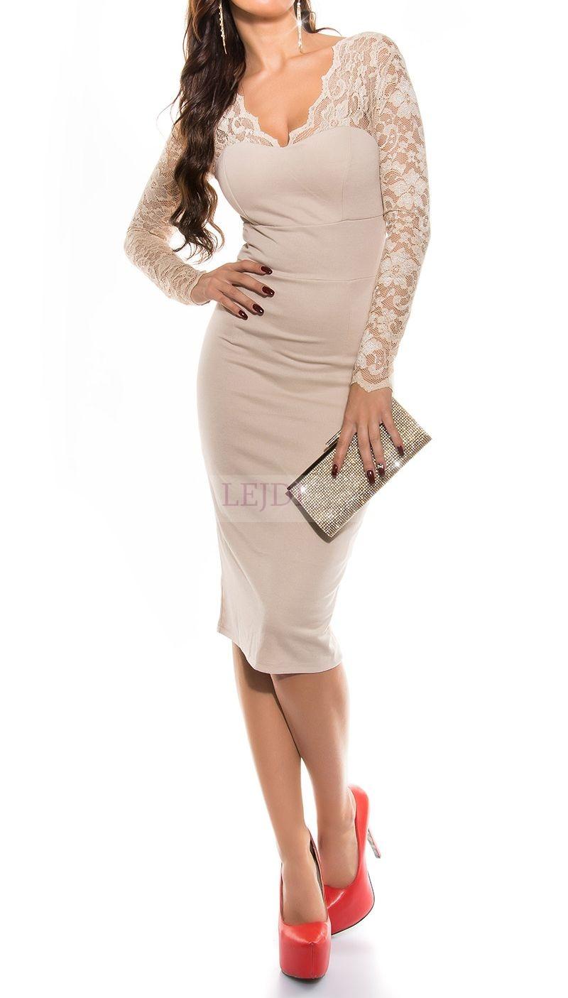 Elegancka sukienka z koronka