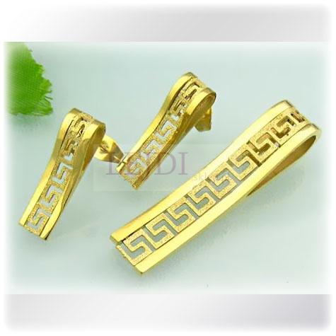 Złoty zestaw w stylu greckim