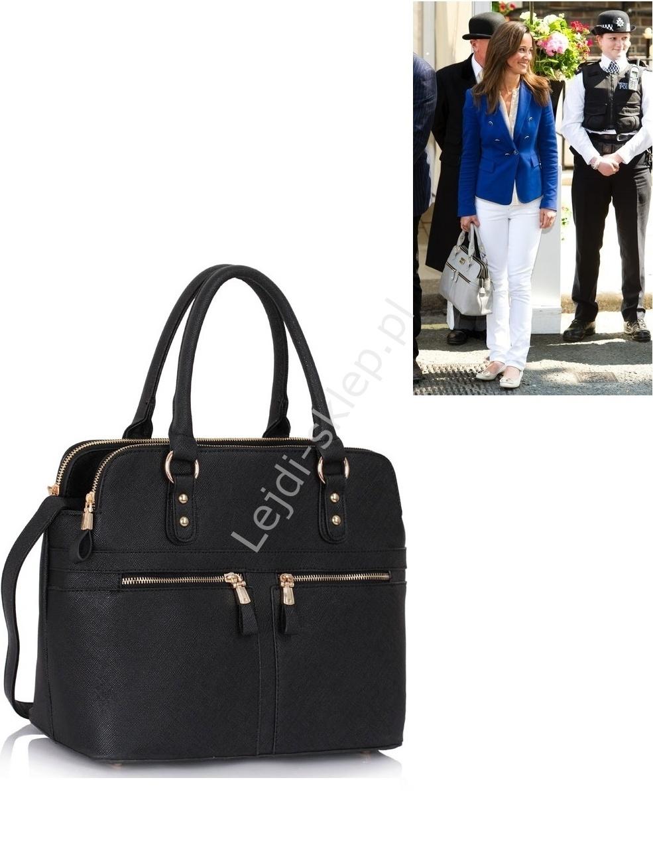 Czarna torebka w stylu Pippa Midleton